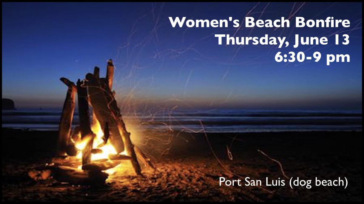 Women's Beach Bonfire Night