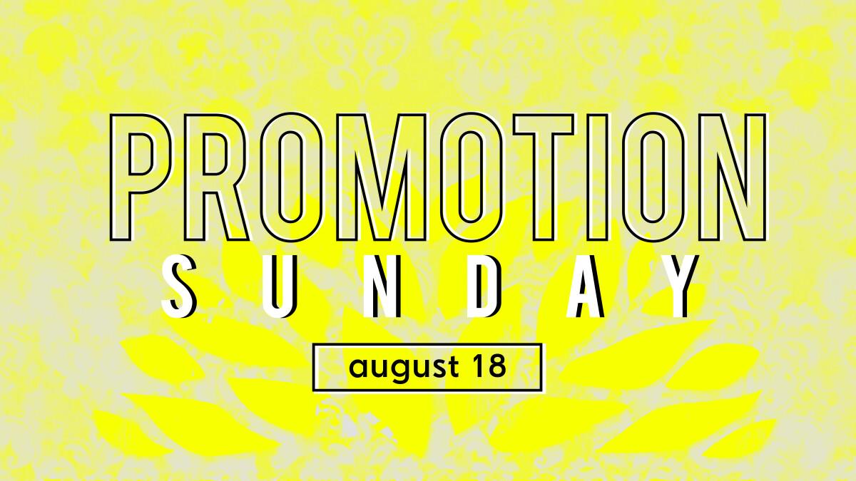 Children's Ministry Promotion Sunday