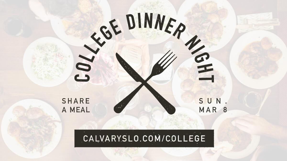 College Dinner Night